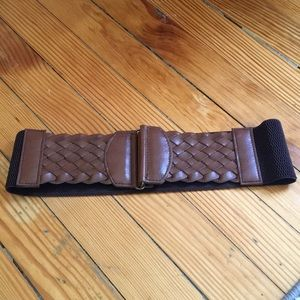 Brown stretchy backed belt s/m